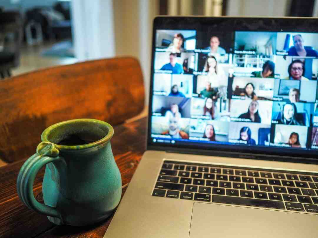 What do you do in a virtual team meeting?